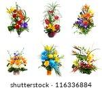selection of flower arrangement | Shutterstock . vector #116336884