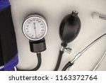 mechanical tonometer on white...   Shutterstock . vector #1163372764