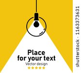 modern interior.vector isolated ... | Shutterstock .eps vector #1163373631