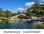 preveli stone bridge a little... | Shutterstock . vector #1163376064