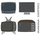 vector set of television | Shutterstock .eps vector #1163376511