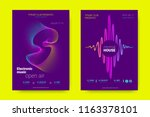 music wave poster. party flyer... | Shutterstock .eps vector #1163378101