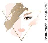 portrait of a blonde girl.... | Shutterstock .eps vector #1163388841