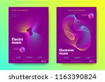 electronic music party poster...   Shutterstock .eps vector #1163390824