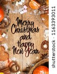 christmas and new year holidays ... | Shutterstock . vector #1163393011