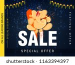 ganesh chaturthi sale flyer or... | Shutterstock .eps vector #1163394397