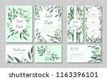 eucalyptus design. wedding... | Shutterstock .eps vector #1163396101