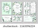 eucalyptus design. wedding... | Shutterstock .eps vector #1163396224