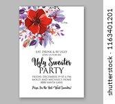 floral background for wedding...   Shutterstock .eps vector #1163401201