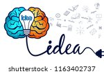 creative brainstorm idea. brain ... | Shutterstock .eps vector #1163402737