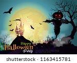 halloween night mystery... | Shutterstock .eps vector #1163415781