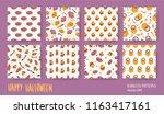 halloween set. vector seamless... | Shutterstock .eps vector #1163417161