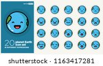 planet earth smiling happy... | Shutterstock .eps vector #1163417281