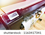 large format printing on a... | Shutterstock . vector #1163417341