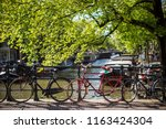 bicycle in dutch streets | Shutterstock . vector #1163424304