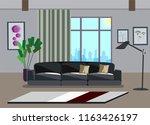 interior of the living room.... | Shutterstock .eps vector #1163426197