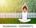 asian chinese little girl... | Shutterstock . vector #1163429071