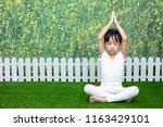 asian chinese little girl... | Shutterstock . vector #1163429101