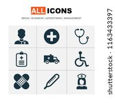 drug icons set with brougham ...   Shutterstock .eps vector #1163433397