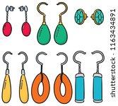 vector set of earrings | Shutterstock .eps vector #1163434891