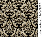 embroidery gold 3d baroque... | Shutterstock .eps vector #1163438227