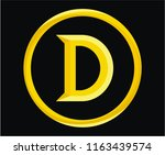 roman numerical number 500 type ... | Shutterstock .eps vector #1163439574