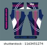 leggings pants fashion for gym  ... | Shutterstock .eps vector #1163451274