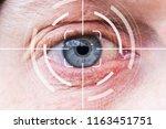 eye monitoring virtual reality... | Shutterstock . vector #1163451751