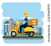 urban delivery service | Shutterstock .eps vector #1163460991