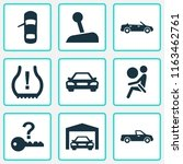 automobile icons set with... | Shutterstock .eps vector #1163462761