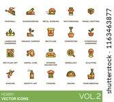hobby vector icons. paintball ... | Shutterstock .eps vector #1163463877