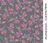 ditsy floral background.... | Shutterstock .eps vector #1163467894