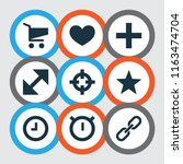 user icons set with target ...