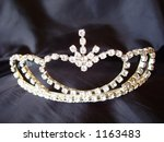 tiara on black background | Shutterstock . vector #1163483