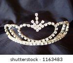 tiara on black background | Shutterstock . vector #1163483