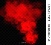 red fog or smoke color isolated ... | Shutterstock .eps vector #1163484397