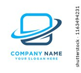 faster the future logo template ... | Shutterstock .eps vector #1163494231