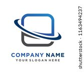 faster the future logo template ... | Shutterstock .eps vector #1163494237