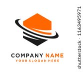 faster the future logo template ... | Shutterstock .eps vector #1163495971