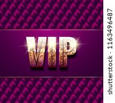 vip card. black sofa background.... | Shutterstock . vector #1163496487
