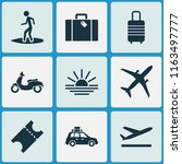exploration icons set with... | Shutterstock .eps vector #1163497777