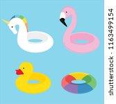 summer swim swimming ring... | Shutterstock .eps vector #1163499154