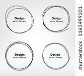 set of vector hand drawn... | Shutterstock .eps vector #1163499301