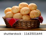 brazilian snack cheese bread | Shutterstock . vector #1163501644
