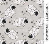 animal cute vector illustration ...   Shutterstock .eps vector #1163502874