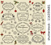 set of christmas design elements | Shutterstock .eps vector #116350681