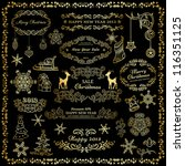 set of golden design elements... | Shutterstock .eps vector #116351125