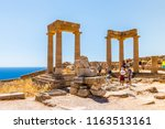 rhodes  greece   may 14  2018 ... | Shutterstock . vector #1163513161