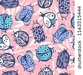 cartoon seamless pattern with... | Shutterstock .eps vector #1163515444