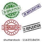 3d replication seal prints with ... | Shutterstock .eps vector #1163518654